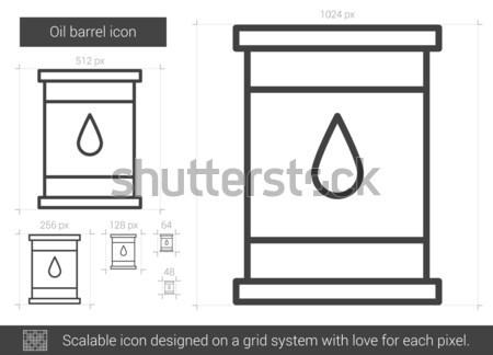Olie vat lijn icon vector geïsoleerd Stockfoto © RAStudio