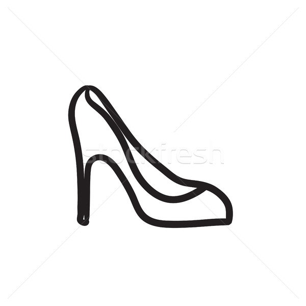 Heel shoe sketch icon. Stock photo © RAStudio