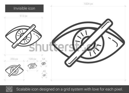 Invisible ligne icône vecteur isolé blanche Photo stock © RAStudio