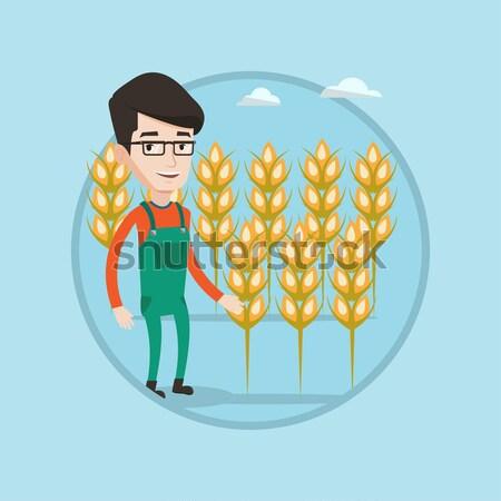 農家 麦畑 白人 立って 作業 ストックフォト © RAStudio