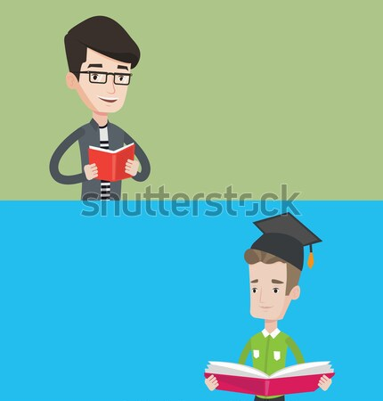 Two educational banners with space for text. Stock photo © RAStudio