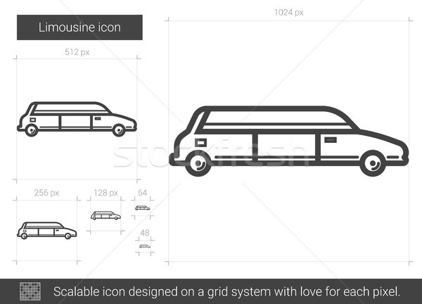Limousine line icon. Stock photo © RAStudio