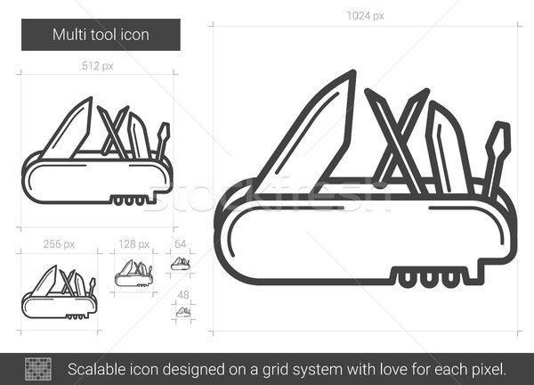 Multi tool line icon. Stock photo © RAStudio