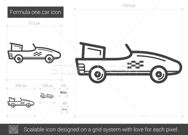 Formula one car line icon. Stock photo © RAStudio