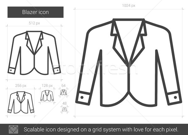 Blazer line icon. Stock photo © RAStudio