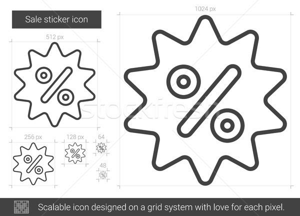 Sale sticker line icon. Stock photo © RAStudio