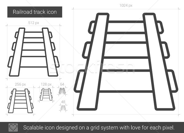 Railroad track line icon. Stock photo © RAStudio