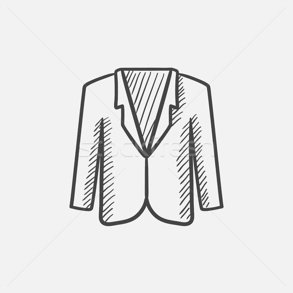 Homme veste croquis icône web mobiles Photo stock © RAStudio