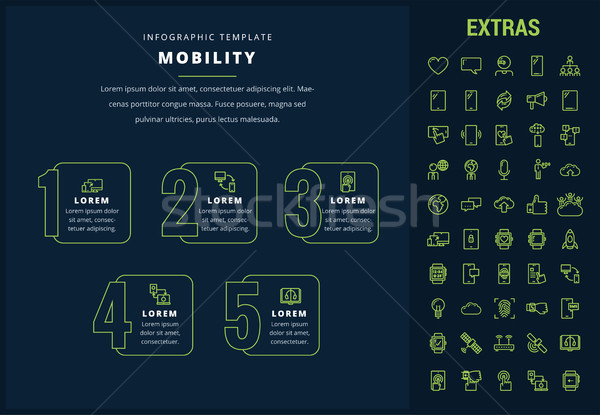 Mobilità infografica modello elementi icone opzione Foto d'archivio © RAStudio