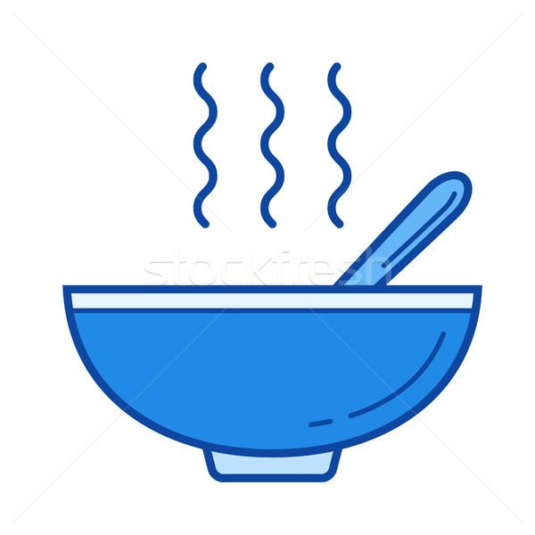 Miso soup line icon. Stock photo © RAStudio