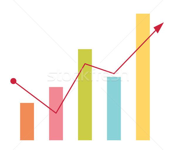 ビジネス 棒グラフ 矢印 アップ 金融 ベクトル ストックフォト © RAStudio