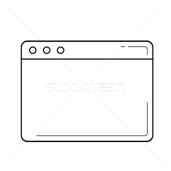 Navegador janela linha ícone vetor isolado Foto stock © RAStudio