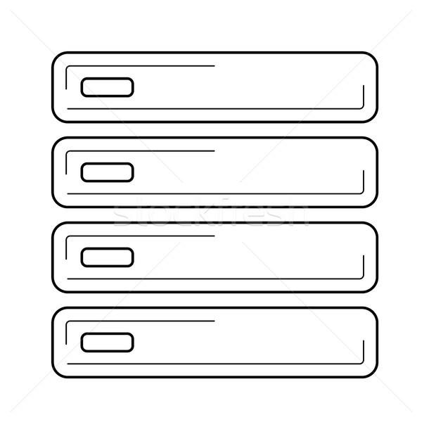 Számítógép szerver vonal ikon vektor izolált Stock fotó © RAStudio