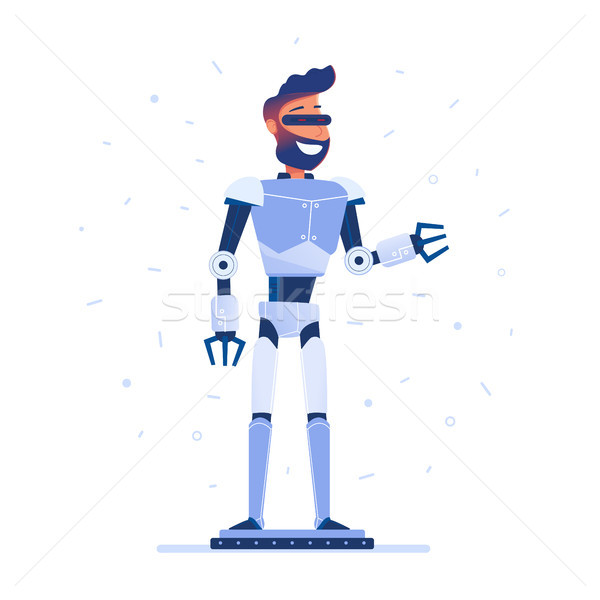 A man with robot body in VR headset. Stock photo © RAStudio