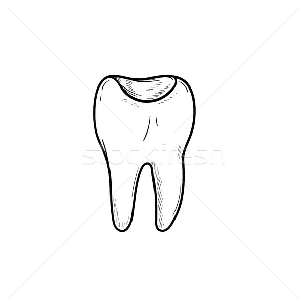 Foto stock: Dente · cavidade · rabisco · ícone
