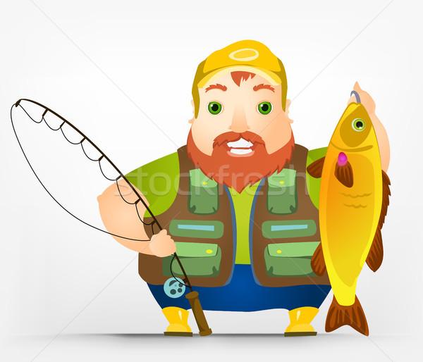 ぽってり 男性 漁師 eps ストックフォト © RAStudio