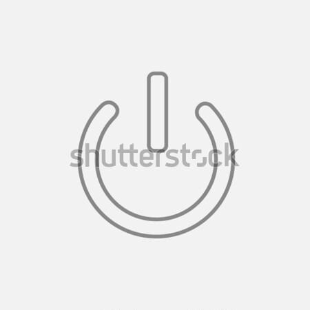 Potere inizio pulsante sottile line icona Foto d'archivio © RAStudio
