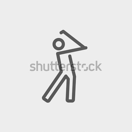 Golfer thin line icon Stock photo © RAStudio