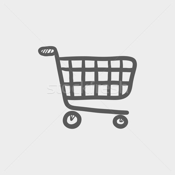 Shopping cart sketch icon Stock photo © RAStudio