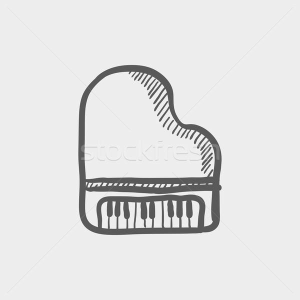 Piano sketch icon Stock photo © RAStudio