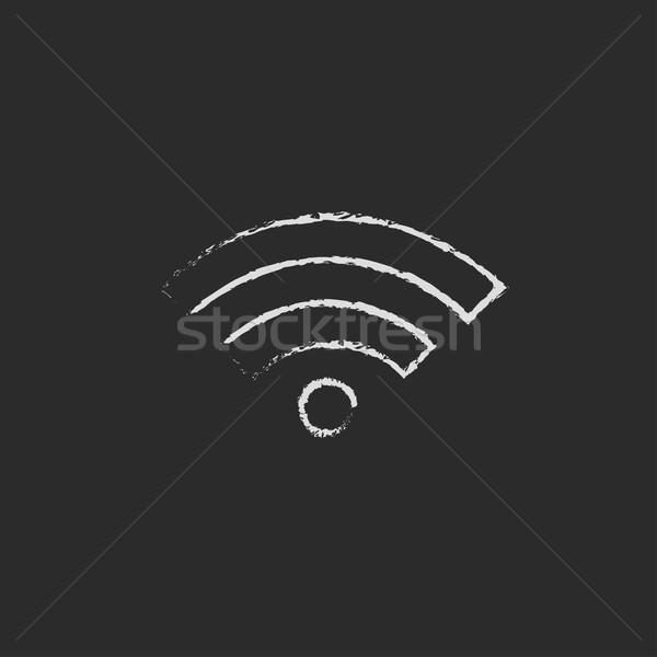 Wifi icon drawn in chalk. Stock photo © RAStudio