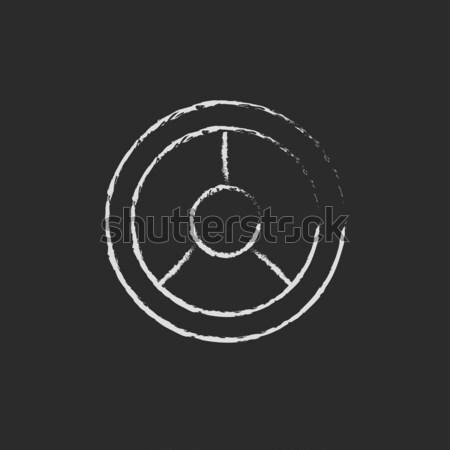 диска икона мелом рисованной доске Сток-фото © RAStudio