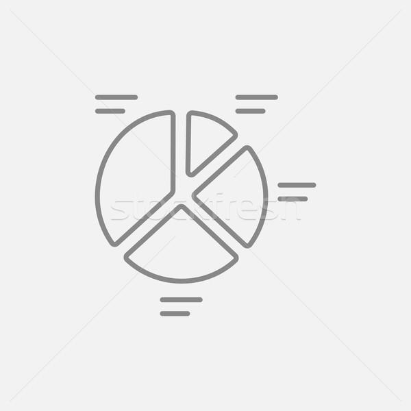 Cirkeldiagram lijn icon web mobiele infographics Stockfoto © RAStudio
