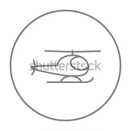 Helikopter vonal ikon háló mobil infografika Stock fotó © RAStudio