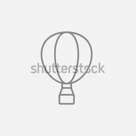Hőlégballon vonal ikon háló mobil infografika Stock fotó © RAStudio