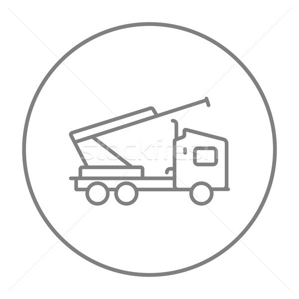Machine with a crane and cradles line icon. Stock photo © RAStudio