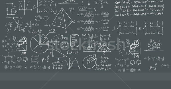 Witte Blackboard wiskundig donkergrijs vector ontwerp Stockfoto © RAStudio