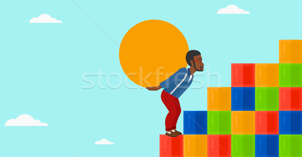 Man steen omhoog gekleurd Stockfoto © RAStudio