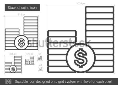 Dollar coins line icon. Stock photo © RAStudio