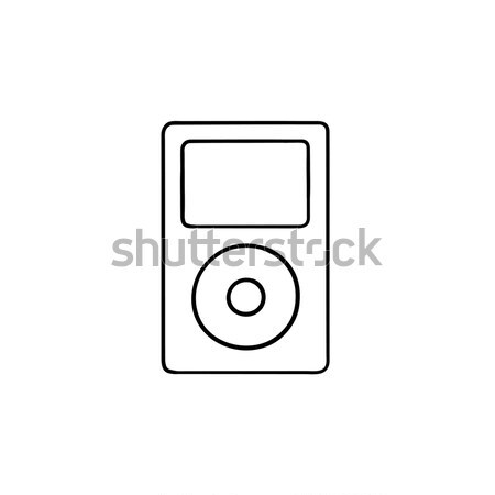 MP3-Player line Symbol Ecken Web mobile Stock foto © RAStudio