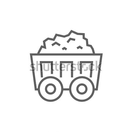 マイニング 石炭 カート 行 アイコン コーナー ストックフォト © RAStudio
