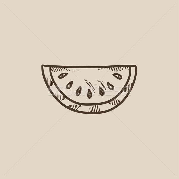 Melon croquis icône web mobiles infographie Photo stock © RAStudio