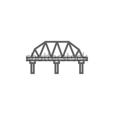 Rail manera puente línea icono esquinas Foto stock © RAStudio
