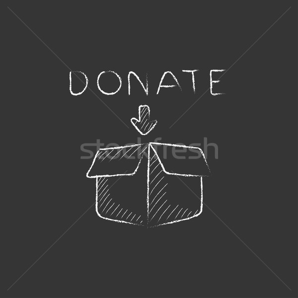 Donation box. Drawn in chalk icon. Stock photo © RAStudio