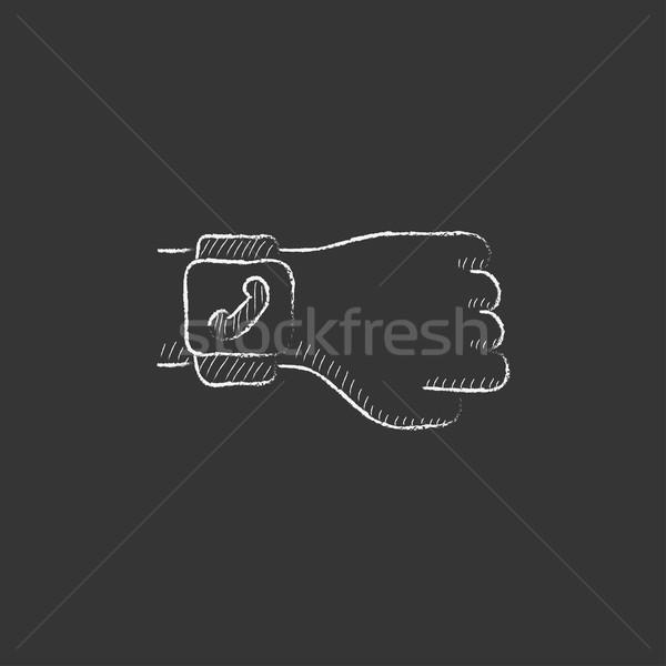 Smartwatch. Drawn in chalk icon. Stock photo © RAStudio
