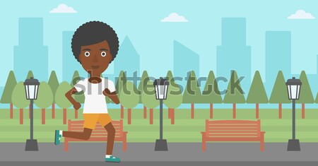 Sportive man jogging. Stock photo © RAStudio