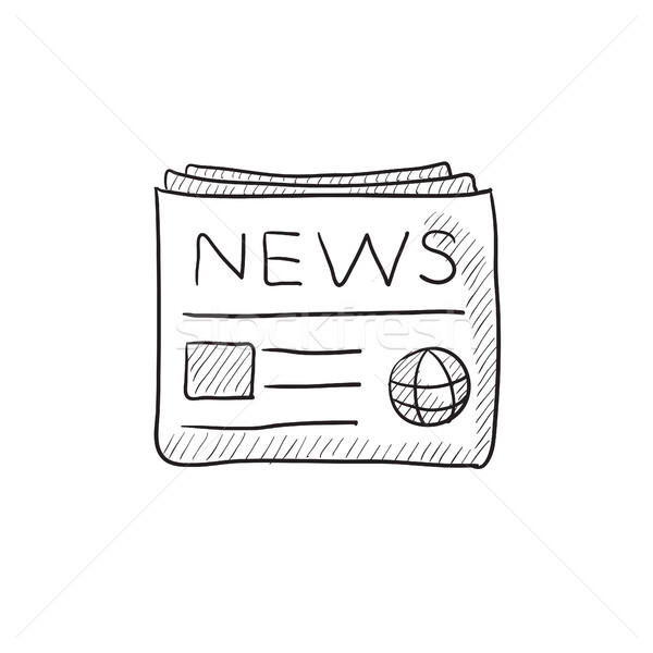 Newspaper sketch icon. Stock photo © RAStudio