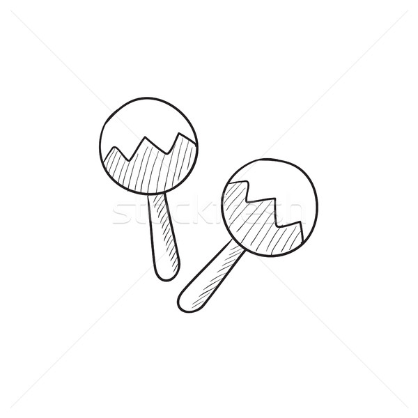 Maracas sketch icon. Stock photo © RAStudio