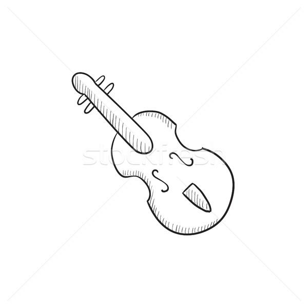 Cello sketch icon. Stock photo © RAStudio