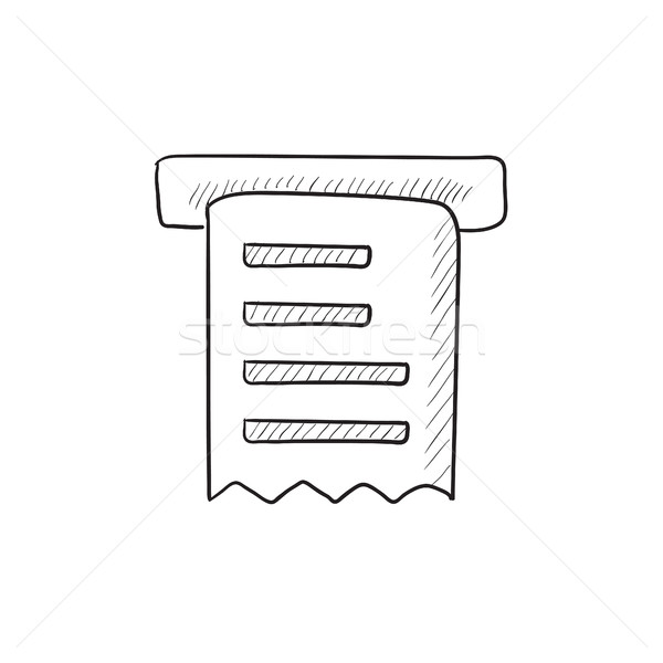 Receipt sketch icon. Stock photo © RAStudio