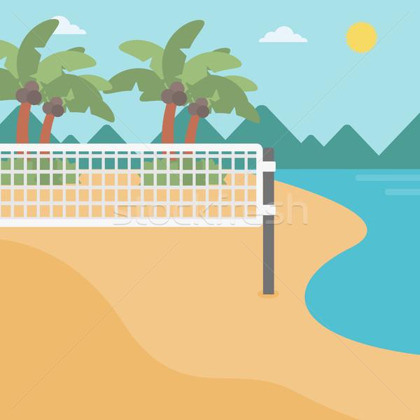 Background of beach volleyball court at seashore. Stock photo © RAStudio