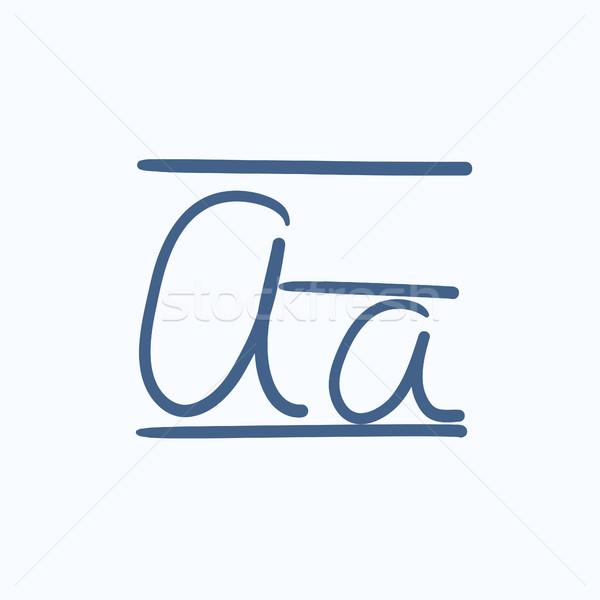 Mektup kroki ikon vektör yalıtılmış Stok fotoğraf © RAStudio