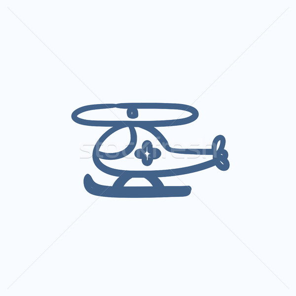 Lucht ambulance schets icon vector geïsoleerd Stockfoto © RAStudio