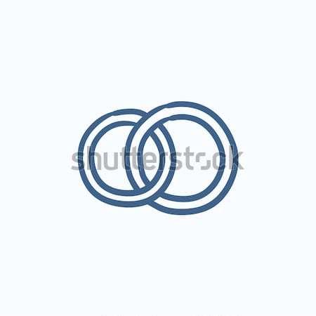 Alyans kroki ikon vektör yalıtılmış Stok fotoğraf © RAStudio