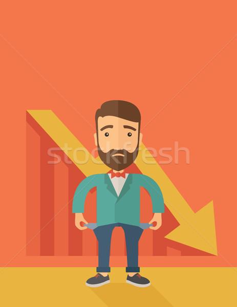 Fracassado empresário infeliz triste caucasiano Foto stock © RAStudio