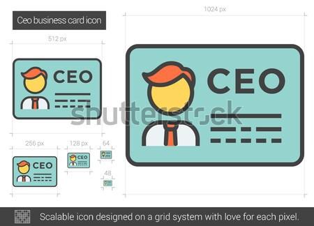 генеральный директор визитной карточкой линия икона вектора изолированный Сток-фото © RAStudio